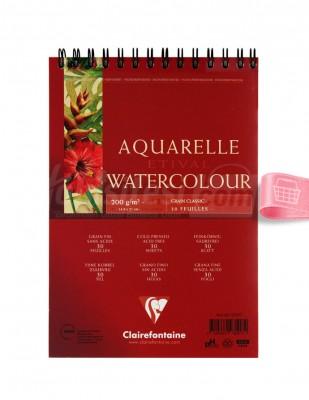 CLAIREFONTAINE - Clairefontaine Sulu Boya Çalışma Defteri, Eskiz Defteri - A5 30 Yaprak - 200 gr