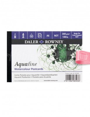 DALER ROWNEY - Daler Rowney Aquafine - Watercolour Postcards A6 12 Yaprak