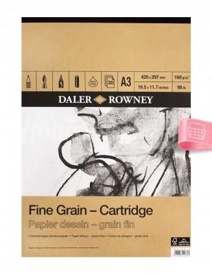 DALER ROWNEY - Daler Rowney Fine Grain Cartridge - Farklı Teknikler İçin Blok - A3 30 Yaprak