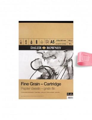 DALER ROWNEY - Daler Rowney Fine Grain Cartridge - Farklı Teknikler İçin Blok - A5 30 Yaprak