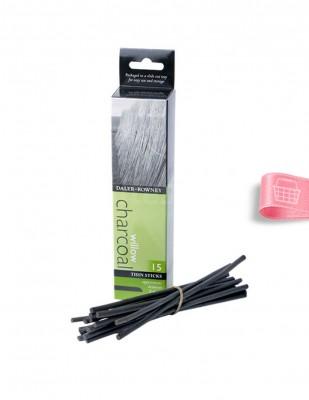 DALER ROWNEY - Daler Rowney Willow Charcoal - İnce Çubuk 3 - 4 mm - 15 Adet