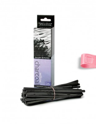 DALER ROWNEY - Daler Rowney Willow Charcoal - Orta Boy Çubuk 5 - 6 mm - 25 Adet
