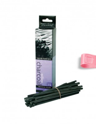 DALER ROWNEY - Daler Rowney Willow Charcoal - Orta Boy Çubuk 5 - mm - 15 Adet