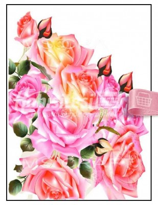 - Dekupaj Kağıdı - 35 x 45 cm Takribi - DP156