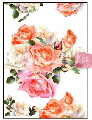- Dekupaj Kağıdı - 35 x 45 cm Takribi - DP158