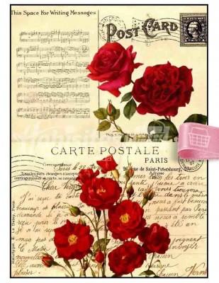 - Dekupaj Kağıdı - 35 x 45 cm Takribi - DP193
