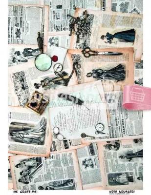 - Dekupaj Kağıdı - 35 x 45 cm Takribi - DP198
