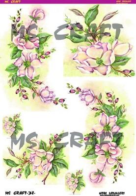 - Dekupaj Kağıdı - 35 x 45 cm Takribi - LSD38