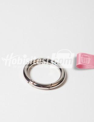 - Metal Halka - Yaylı - Gümüş - Ç: 5 cm