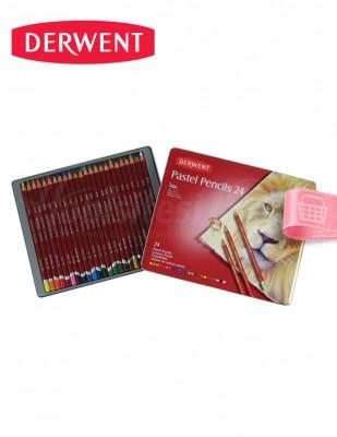 DERWENT - Derwent Pastel Pencils 24 - Pastel Kalem Boya Seti - 24 Renk