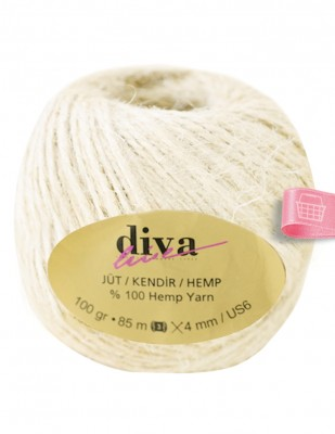 DİVA LINE - Diva Line Jüt İp - Ekru - 100 Gr - 85 m