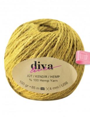 DİVA LINE - Diva Line Jüt İp - Hardal Sarı - 100 Gr - 85 m