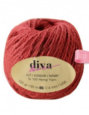 DİVA LINE - Diva Line Jüt İp - Kiremit - 100 Gr - 85 m