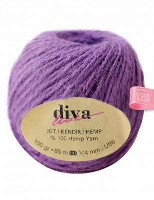 DİVA LINE - Diva Line Jüt İp - Mor - 100 Gr - 85 mt