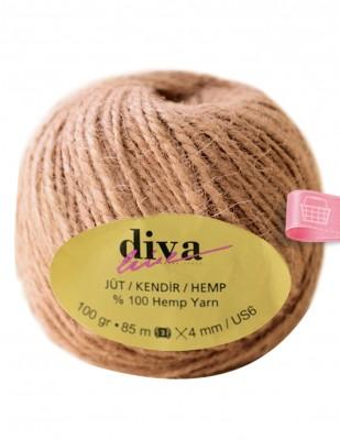 DİVA LINE - Diva Line Jüt İp - Pudra - 100 Gr - 85 mt