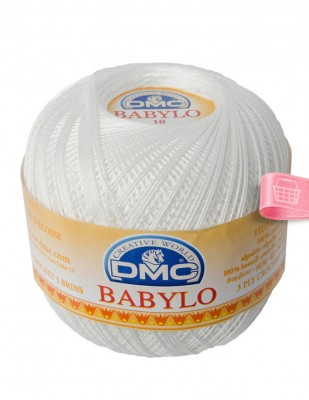 DMC - DMC Babylo Dantel İpliği - No: 10 - 100 gr - Blanc