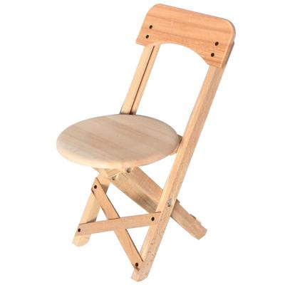 - Doğal Ağaçtan Katlanabilir Ahşap Sandalye - Kamp, Metro, Piknik ve Çocuk Sandalyesi - KDA14T