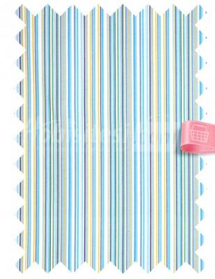 - Duck Kumaş - Çizgili - En 180 cm - Mavi