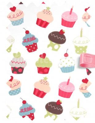 - Duck Kumaş - Cupcake - En 180 cm