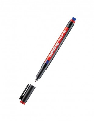 EDDING - Edding 147 S Multi Purpose Pen, Silgili - 0.3 mm - Kırmızı