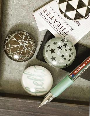 EDDING - Edding 2185 Jel Roller Mürekkep Kalem, Yazı Yazmak Çok Güzel - 054 Gümüş (1)