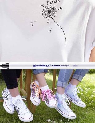 EDDING - Edding 4600 Tekstil Kalemleri, Kumaş Boyama Kalemleri - Farklı Renk Seçenekleriyle (1)