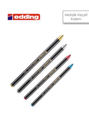 - Edding 1200 Metalik Renkli Keçeli Kalemler, Çok Amaçlı Grafik Kalemi - Farklı Renk Seçenekleri