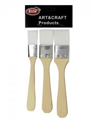 - Rich Fırça Seti - 3lü Zemin Fırça Seti - Ekonomik Beyaz