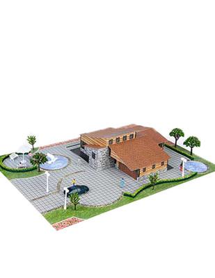 - Eshel 3D Üç Boyutlu Puzzle - Ahşap Villa - Öğren, Yap, Eğlen (1)