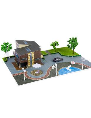 - Eshel 3D Üç Boyutlu Puzzle - Antik Villa - Öğren, Yap, Eğlen