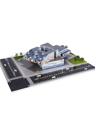 - Eshel 3D Üç Boyutlu Puzzle - İş Merkezi - Öğren, Yap, Eğlen