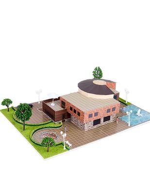 - Eshel 3D Üç Boyutlu Puzzle - Modern Villa - Öğren, Yap, Eğlen