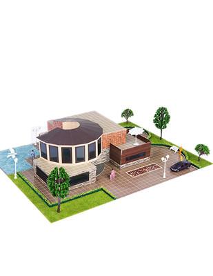 - Eshel 3D Üç Boyutlu Puzzle - Modern Villa - Öğren, Yap, Eğlen (1)