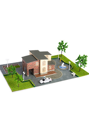 - Eshel 3D Üç Boyutlu Puzzle - Tuğla Villa - Öğren, Yap, Eğlen