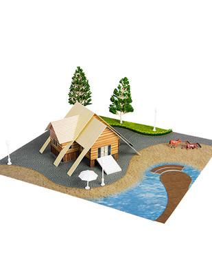 - Eshel 3D Üç Boyutlu Puzzle - Yazlık Villa - Öğren, Yap, Eğlen
