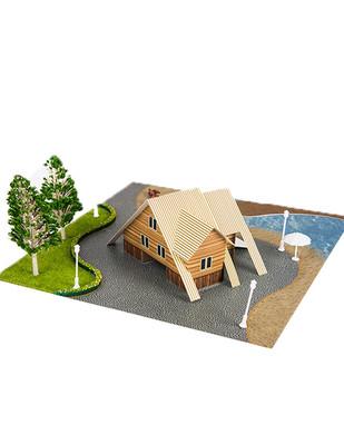 - Eshel 3D Üç Boyutlu Puzzle - Yazlık Villa - Öğren, Yap, Eğlen (1)