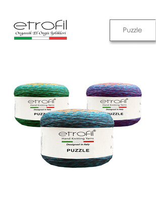 ETROFİL - Etrofil Puzzle El Örgü İplikleri - 1000 metre