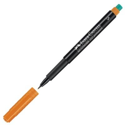 - Faber Castell 1523 S Multimark Permanent Pen, Yazı Kalemi, Silgili - Turuncu