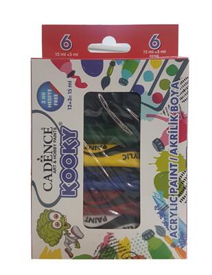 CADENCE - Cadence Kooky Akrilik Boya Seti - 15 ml - 6lı Set