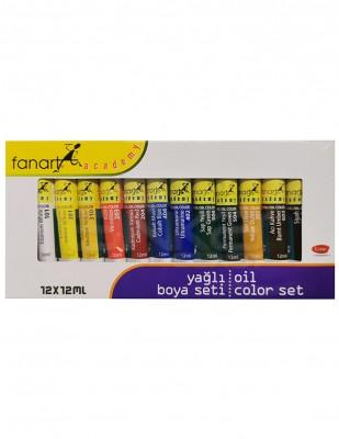 FANART - Fanart Academy Yağlı Boya Seti - Her Tüp 12 ml - 12 Renk