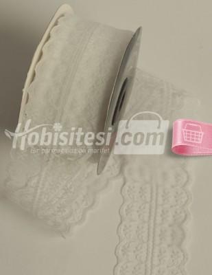 - Fantastic Dantel - Orta - Beyaz - En 4 cm - 25 m