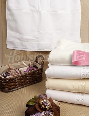 FİESTA - Fiesta İşlemelik Boyama Havlu - 50 x 90 cm - Beyaz