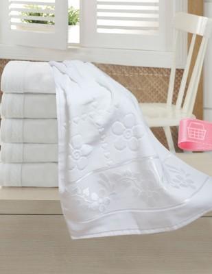 FİESTA - Fiesta İşlemelik Jakarlı Havlu - Papatya - 50 x 90 - Beyaz