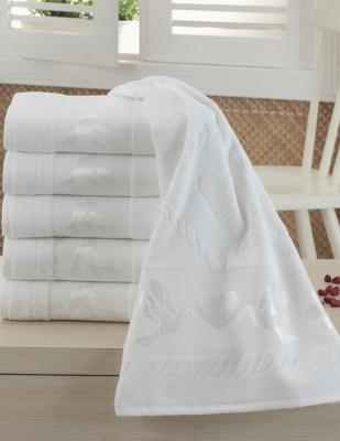 FİESTA - Fiesta İşlemelik Jakarlı Havlu - Kuşlu - 50 x 90 c - Beyaz
