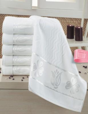 FİESTA - Fiesta İşlemelik Jakarlı Havlu - Laleli - 50 x 90 - Beyaz