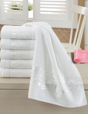 FİESTA - Fiesta İşlemelik Jakarlı Havlu - Vuslat - 50 x 90 - Beyaz