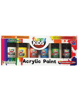 RICH - Funny Kids Akrilik Boya Seti, Her Renk 20 ml - 6 Renk