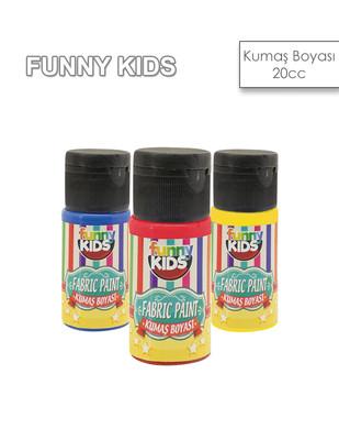 - Funny Kids Fabric Paint, Kumaş Boyaları, Tüm Kumaş Çeşitleri İçin - 20 cc