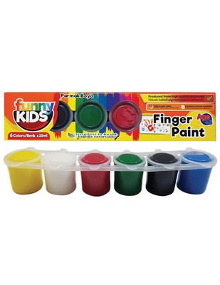 RICH - Funny Kids Finger Paint, Parmak Boya Seti, Her Renk 25 ml - 6 Renk