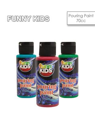 - Funny Kids Pouring Paint, Hazır Akrilik Boyalar - 70 cc